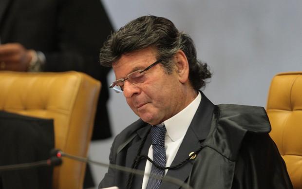 Ministro Luiz Fux durante sessão do STF na última semana (Foto: Carlos Humberto/STF)