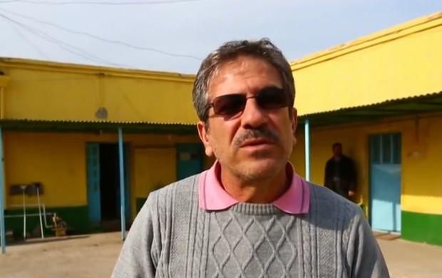 Masood Rezaeiyan, diretor de futebol do Sanat Naft (Foto: Reprodução / SporTV)