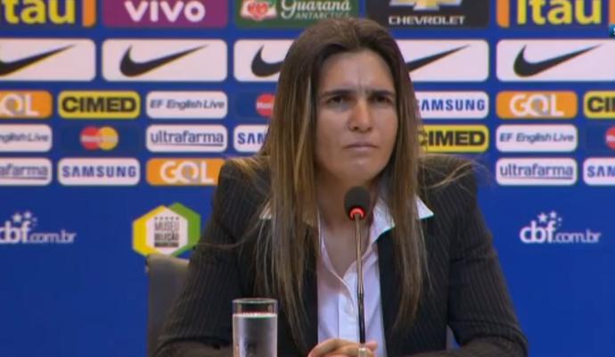 Emily Lima, técnica da seleção feminina do Brasil (Foto: Reprodução SporTV)