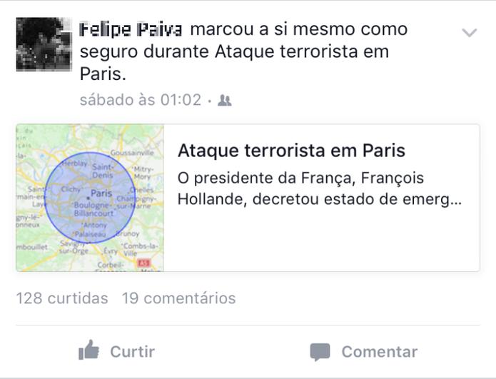 Facebook ajuda em casos de tragédias (Foto: Reprodução / Laura Martins)