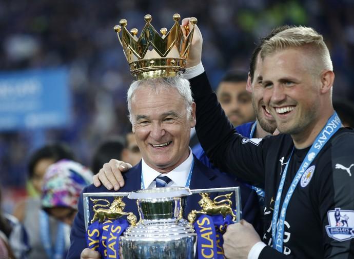 Claudio Ranieri Kasper Schmeichel (Foto: Reuters)