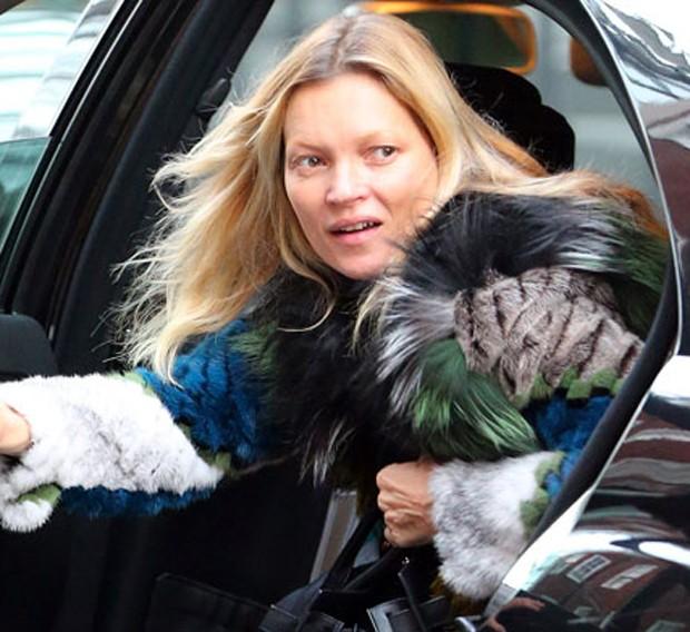 Kate Moss sem maquiagem (Foto: Reprodução)