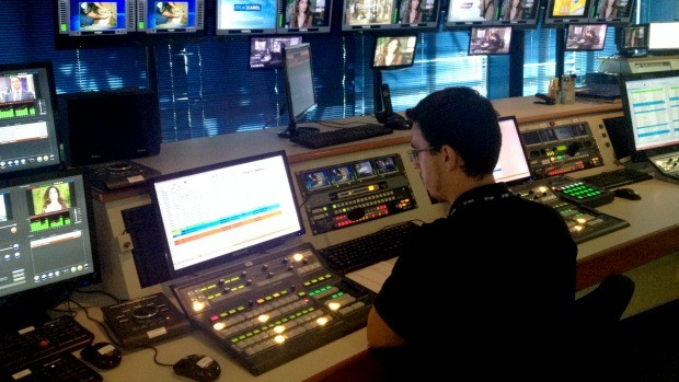 Tecnologia digital da TV TEM (Foto: Gabriela Cardoso/TV TEM)