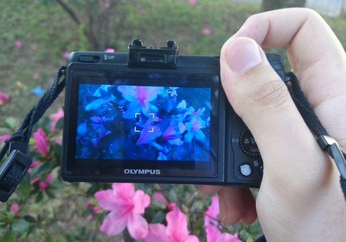 Fotografando como se estivesse embaixo dágua (Foto: Pedro Zambarda/TechTudo)