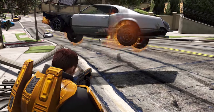 GTA V: novo Mod adiciona a Gravity Gun de Half-Life ao game (Foto: Reprodução)