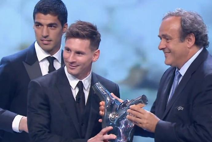 Messi melhor Europa troféu (Foto: Reprodução )