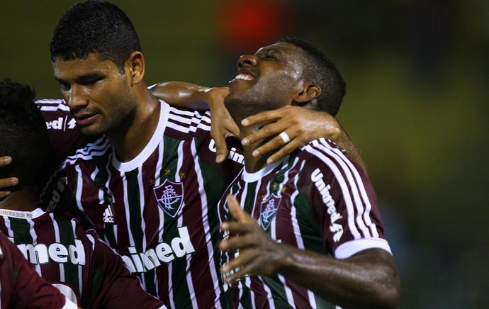 Elivelton comemora, Fluminense x Audax (Foto: Photocamera)