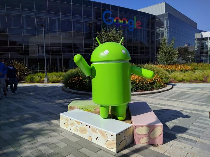Estátua do Android Nougat na sede do Google (Foto: Divulgação/Google)