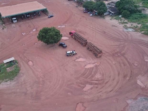 PRF acha 4 áreas de desmatamento durante operação em Mato Grosso (Foto: Assessoria/PRF-MT)