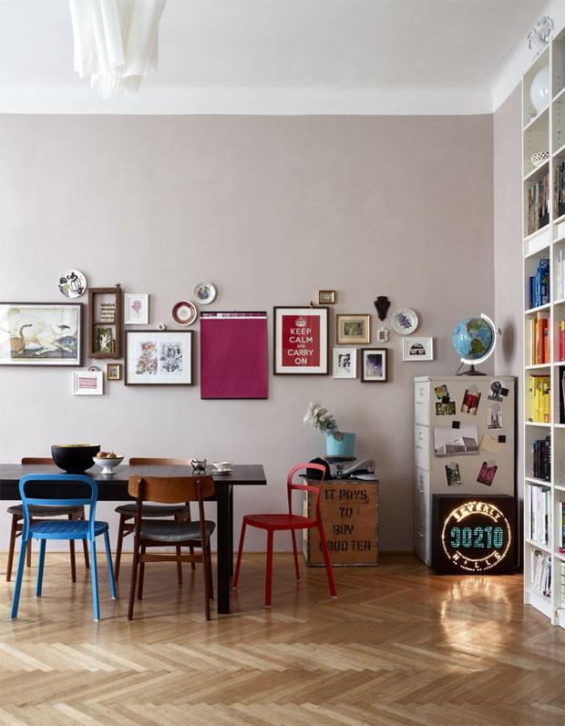 D cor do dia intui o de artista casa vogue interiores - Bilderwand wohnzimmer ...