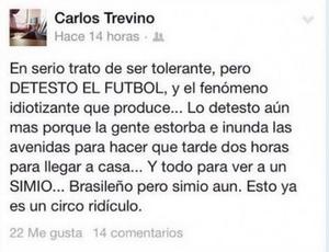 Político mexicano chama Ronaldinho de macaco (Foto: Reprodução / Facebook)