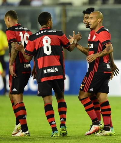 Sheik gol Palestino x Flamengo (Foto: AFP)