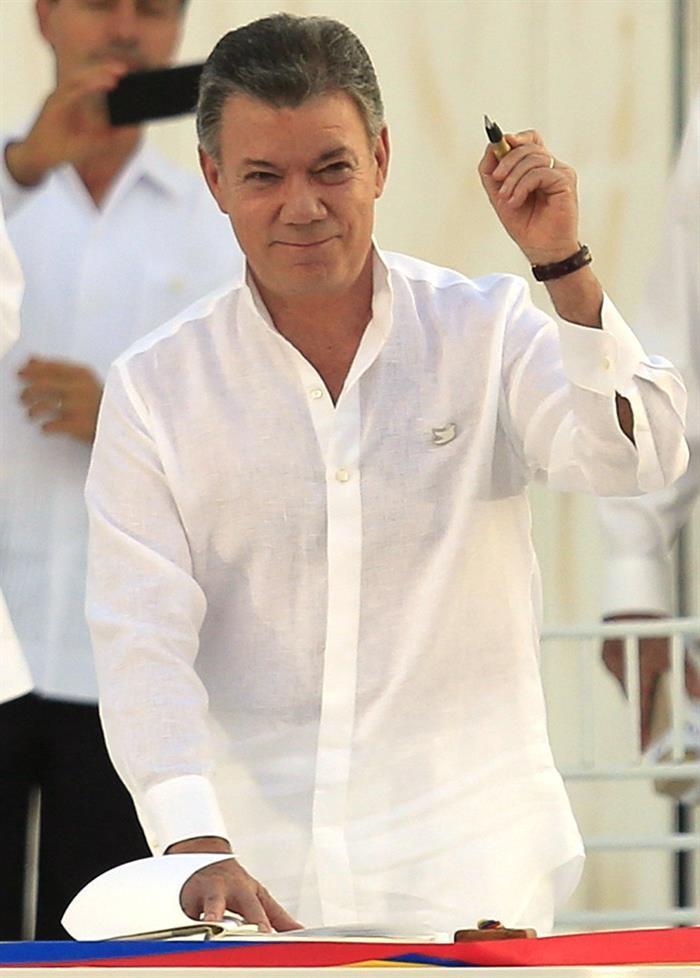 Juan Manuel Santos, presidente da Colômbia (Foto: EFE)