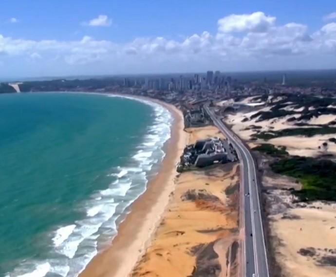 Natal é a cidade homenageada no 'Telão do Domingão' (Foto: TV Globo/Divulgação)