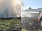 Bombeiros levam 50 minutos para apagar fogo em terreno de São João