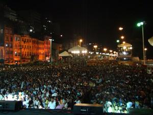 Praça Cairu (Foto: Henrique Mendes/G1)