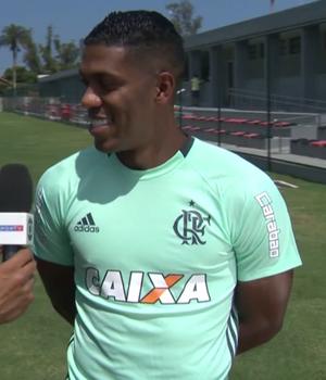 Berrío, atacante do Flamengo (Foto: Reprodução SporTV)