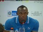 Usain Bolt visita grupo de atletismo no Rio de Janeiro antes de desafio