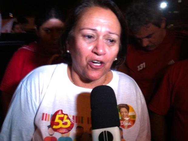 Fátima Bezerra foi eleita senadora pelo RN (Foto: Felipe Gibson/G1)