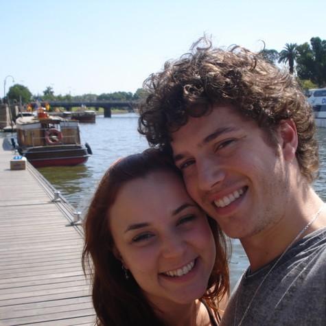 Juliana Lohmann e Caio Paduan (Foto: Arquivo pessoal)