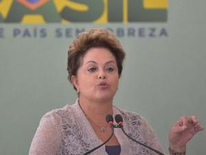 A presidente Dilma Rousseff durante evento do PAC 2 no Palácio do Planalto (Foto: Wilson Dias / Agência Brasil)
