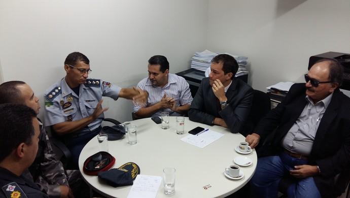 Reunião no MP Campeonato Potiguar (Foto: Jocaff Souza/GloboEsporte.com)