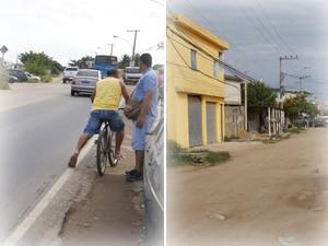 Apenas a parte central da via foi asfaltada próximo ao Campus Fidei, JMJ, Papa (Foto: Tássia Thum/G1)