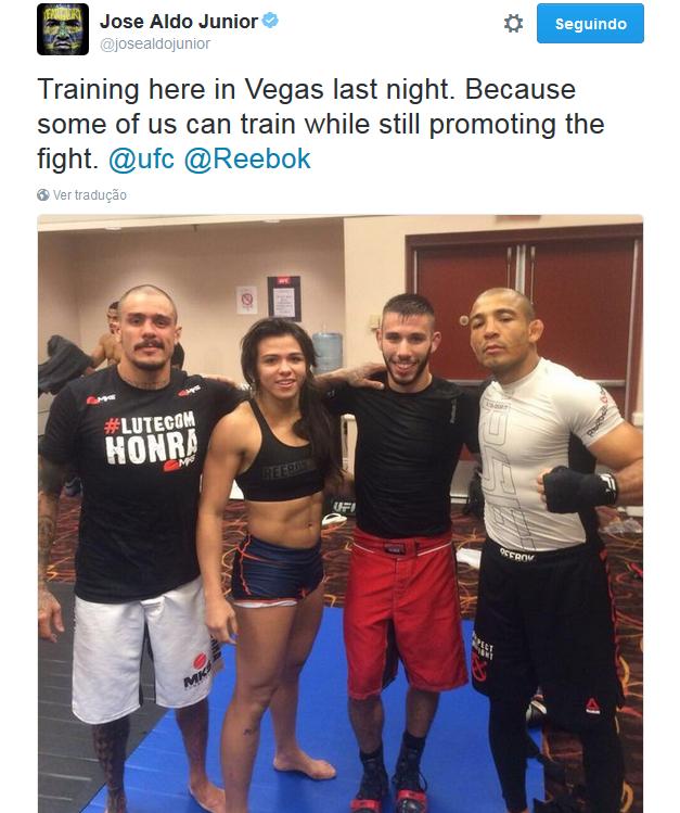 """BLOG: Aldo cutuca McGregor: """"Alguns de nós conseguem treinar enquanto promovem"""""""