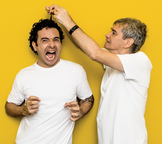 Marco Luque e Serginho Groisman (Foto:  )