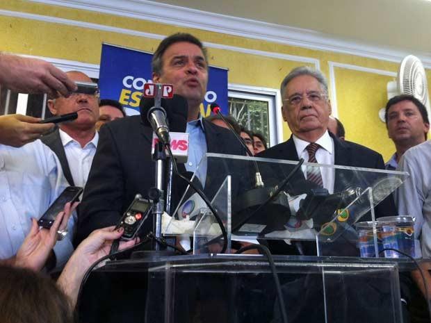 Senador participou de encontro com lideranças tucanas em São Paulo (Foto: Roney Domingos/G1)