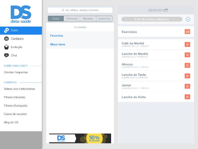 O aplicativo oferece a famosa dieta dos pontos para os usuários que querem emagrecer (Foto: Reprodução/Lívia Dâmaso)