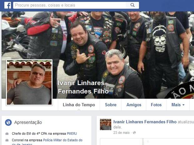 Coronel da PM Ivanir foi morto a tiros nesta segunda-feira em Maricá (Foto: Reprodução/Facebook)