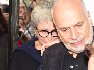 Velório Umberto Magnani - Irene Ravache (Foto: Leo Franco/ Ag. News)