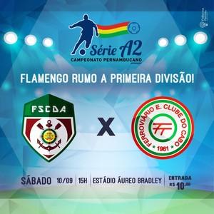 Flamengo de Arcoverde divulga preço dos ingressos (Foto: Divulgação / Flamengo de Arcoverde)
