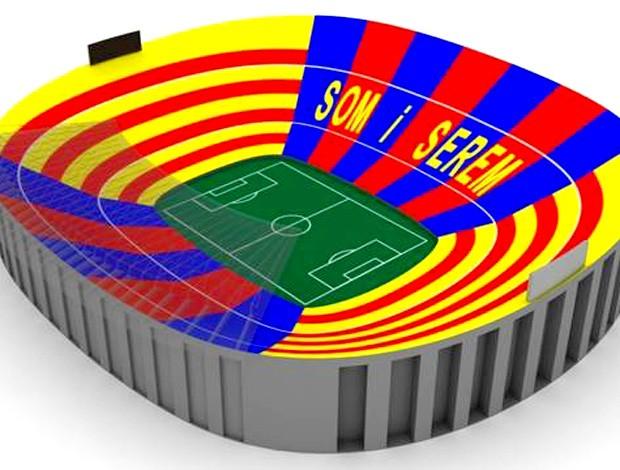 mosaico barcelona cam nou (Foto: Divulgação / FC Barcelona)