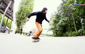 """""""Cidade boa para andar, é plana"""", revela skatista brasileiro sobre Berlim"""