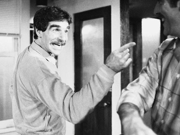 Harry Reems durante ensaio da peça off-Broadway 'The office murders', em Nova York, em novembro de 1979 (Foto: AP Photo/Ron Frehm, File)