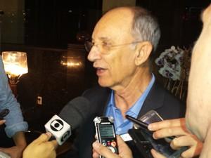 Presidente do PT, Rui Falcão, está em Belo Horizonte para as comemorações dos 35 anos do partido (Foto: Thaís Pimentel/G1)