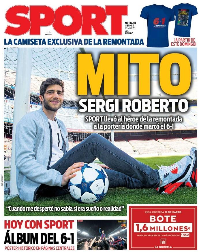 Jornal Sport Sergi Roberto