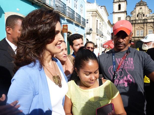 Fátima em Salvador (Foto: Encontro com Fátima Bernardes/TV Globo)
