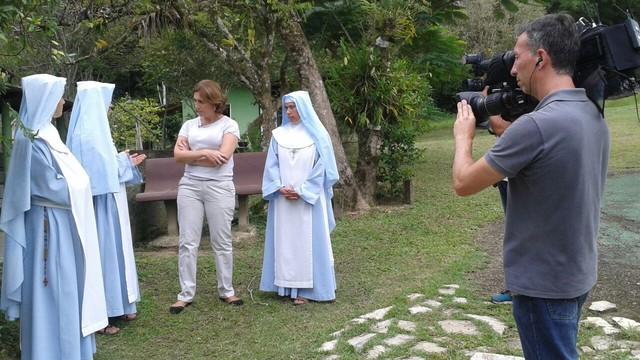 Rota do Sol em um convento em Juquiá (Foto: Reprodução/TV Tribuna)