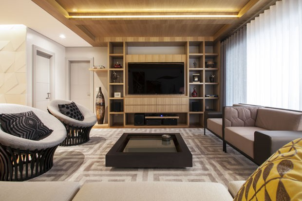 Um apartamento com terraço gourmet (Foto: Divulgação)