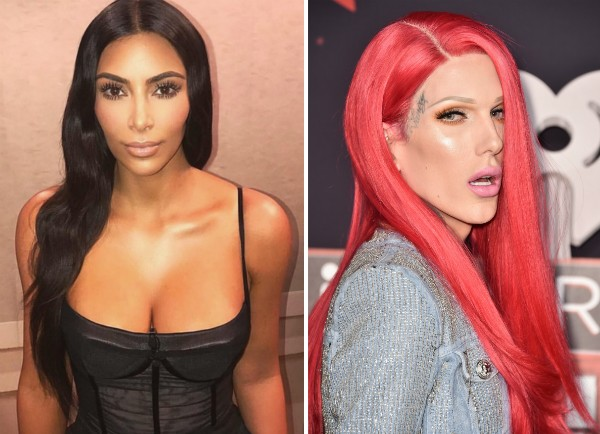 A socialite Kim Kardashian e o blogueiro Jeffree Star (Foto: Instagram/Getty Images)