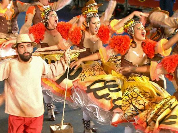 Traque de Massa, de Olinda, lembrou a obra do escritor João Cabral de Melo Neto. (Foto: Reprodução / TV Globo)