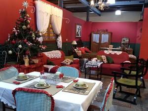 Casa do Papai Noel pode ser visitada em Juiz de Fora (Foto: Nathalie Guimarães/G1)