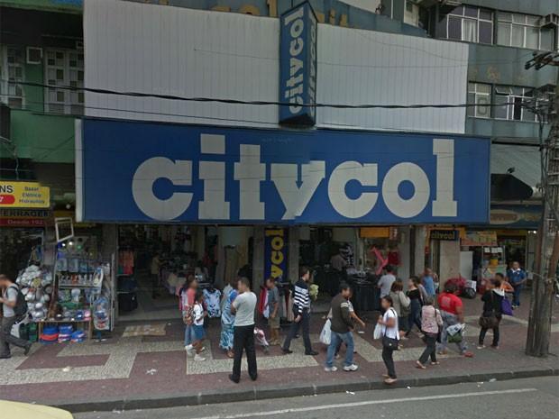 Loja da Citycol antes da queda de marquise em Madureira, no Subúrbio (Foto: Reprodução/ Google Maps)