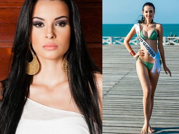 Miss Mato Grosso, Jessica Rodrigues, 20 anos e 1.79 metro, estudante de Marketing (Foto: Lucas Ismael/Band/Divulgação)