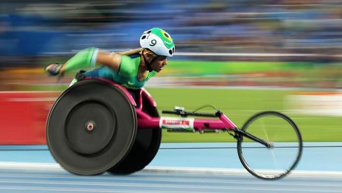 Maria de Fatima Fonseca; Fah Fonseca; Maratona T54; Paralimpíada; Rio de Janeiro (Foto: Reprodução/Facebook)