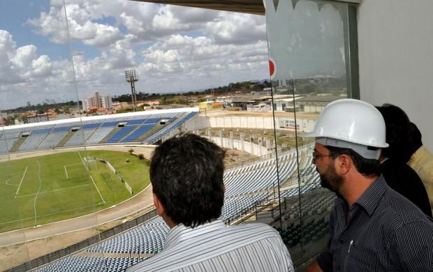Reforma no Amigão, em Campina Grande (Foto: Divulgação/Governo da Paraíba)