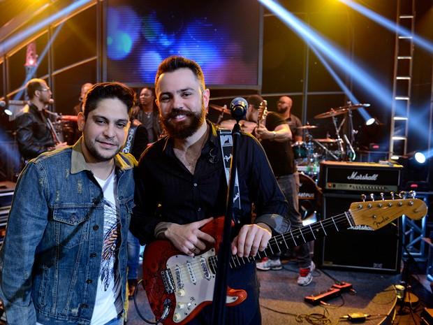 Jorge & Mateus participa da gravação do 'Programa do Jô' (Foto: TV Globo/Programa do Jô)